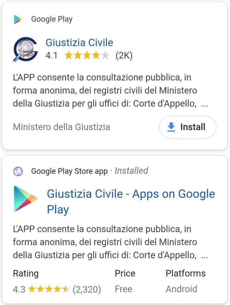 Giustizia civile app